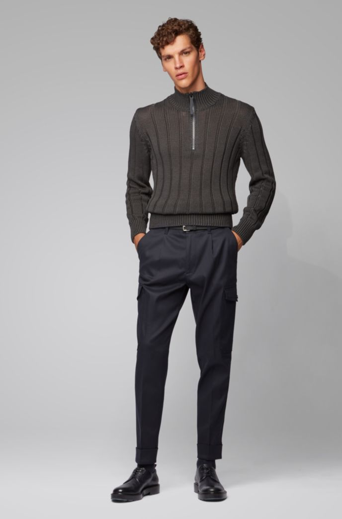 Relaxed-fit cargo pants in Italian fabric
