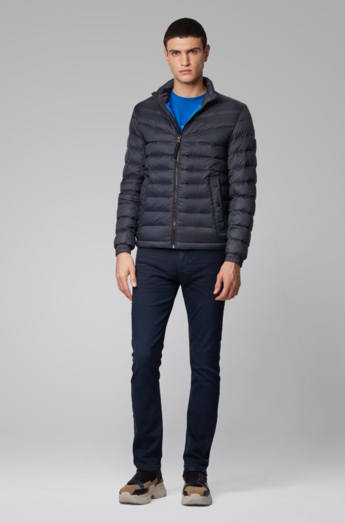 Lightweight slim-fit down jacket with water-repellent finish