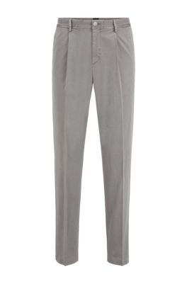 Regular-fit cropped pants in stretch birdseye fabric, Patterned