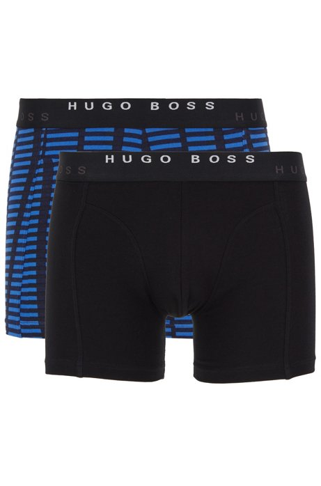 Two-pack of boxer briefs in stretch cotton, Blue