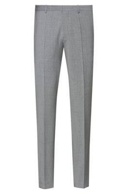 Extra-slim-fit pants in a virgin-wool blend, Dark Grey