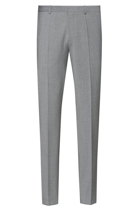 Extra-slim-fit pants in a virgin-wool blend, Dark Grey