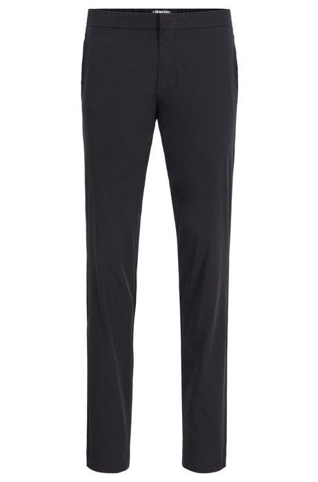 Slim-fit pants in anti-wrinkle fabric, Black