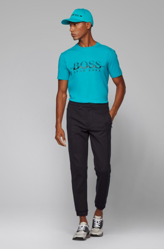Tapered-fit jogging pants in Italian jersey
