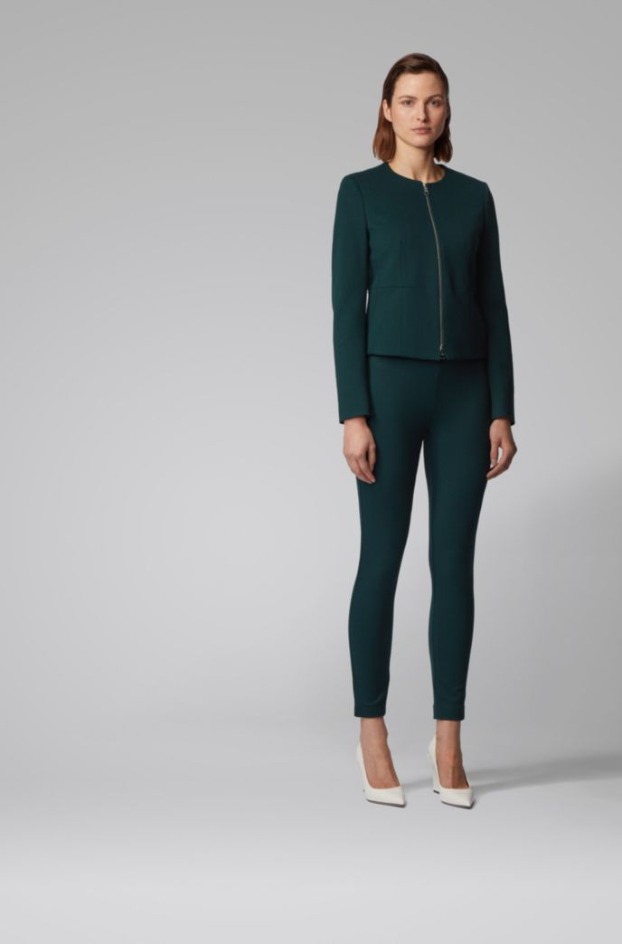 Extra-slim-fit pants in houndstooth stretch jersey