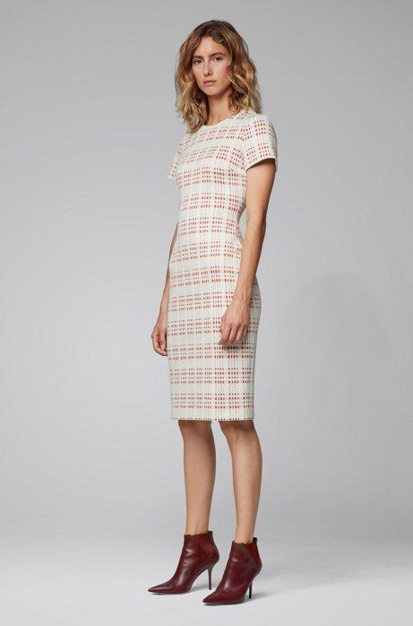 Regular-fit business dress in a cotton blend, Patterned