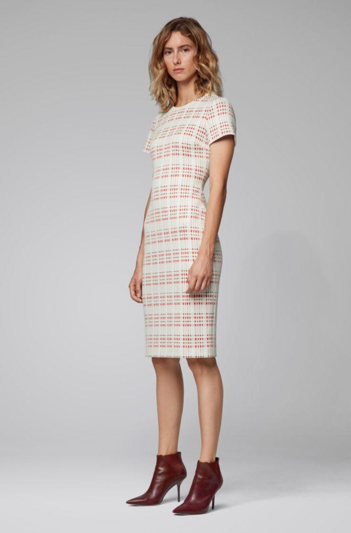 Regular-fit business dress in a cotton blend