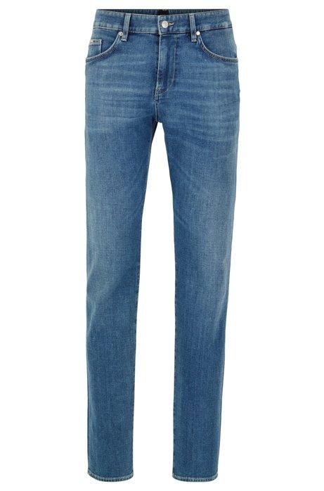 Slim-fit jeans in Italian cashmere-touch denim, Blue