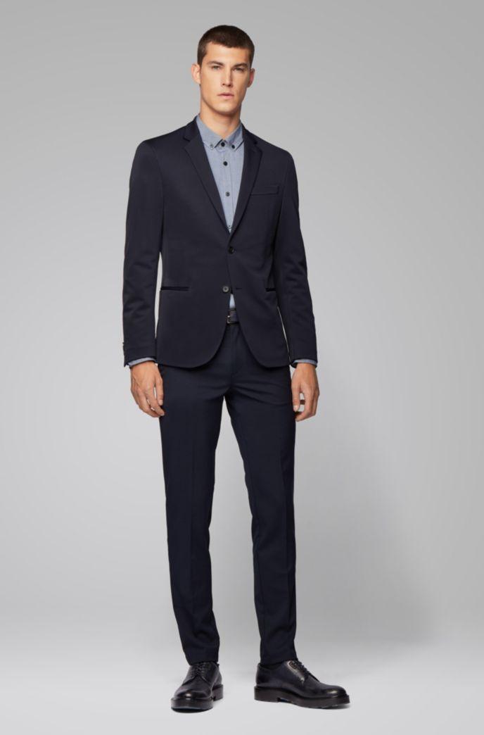 Slim-fit shirt in stretch-cotton dobby