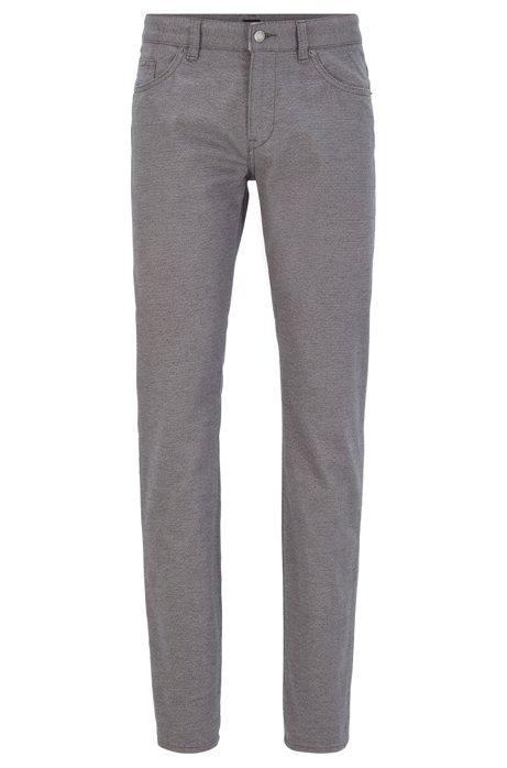 Slim-fit jeans in melange stretch denim, Grey