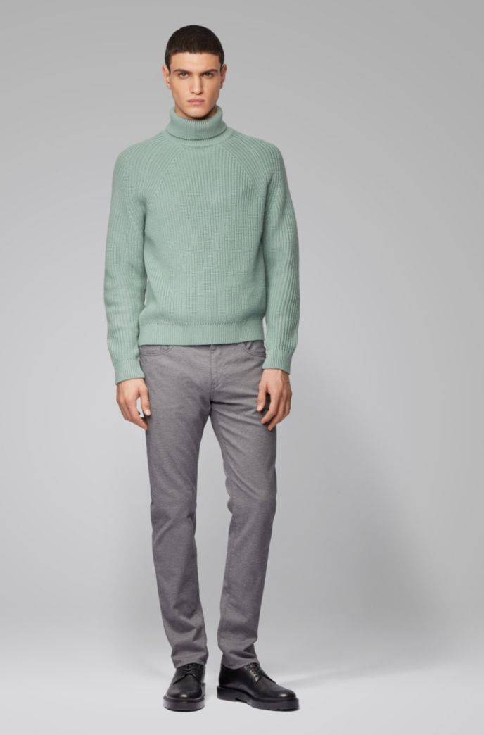 Slim-fit jeans in melange stretch denim