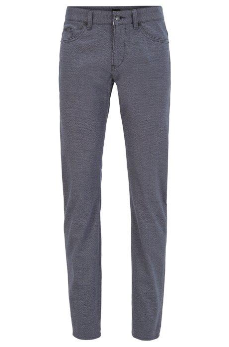 Slim-fit jeans in melange stretch denim, Dark Blue