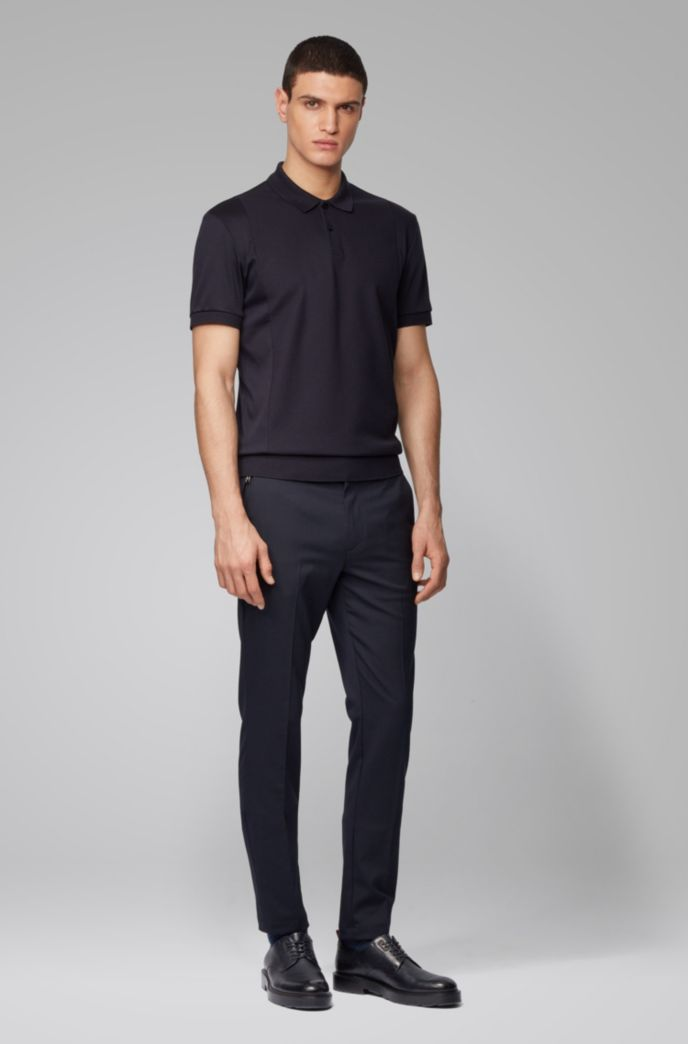 Regular-fit polo shirt with structured front