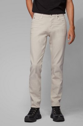Slim-fit jeans in Italian cashmere-touch denim, White
