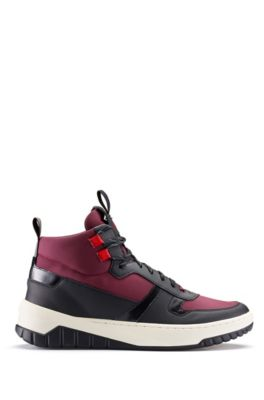 High-top trainers with rubberised trims, Open Red