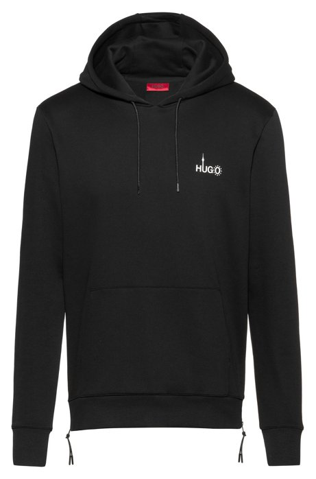 Relaxed-fit sweatshirt with Berlin-inspired artwork, Black