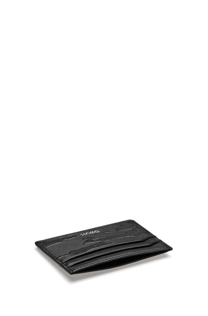 Leather card holder and metal money clip gift set