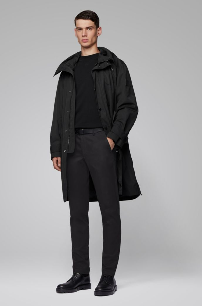 Slim-fit pants in Italian stretch gabardine with cashmere