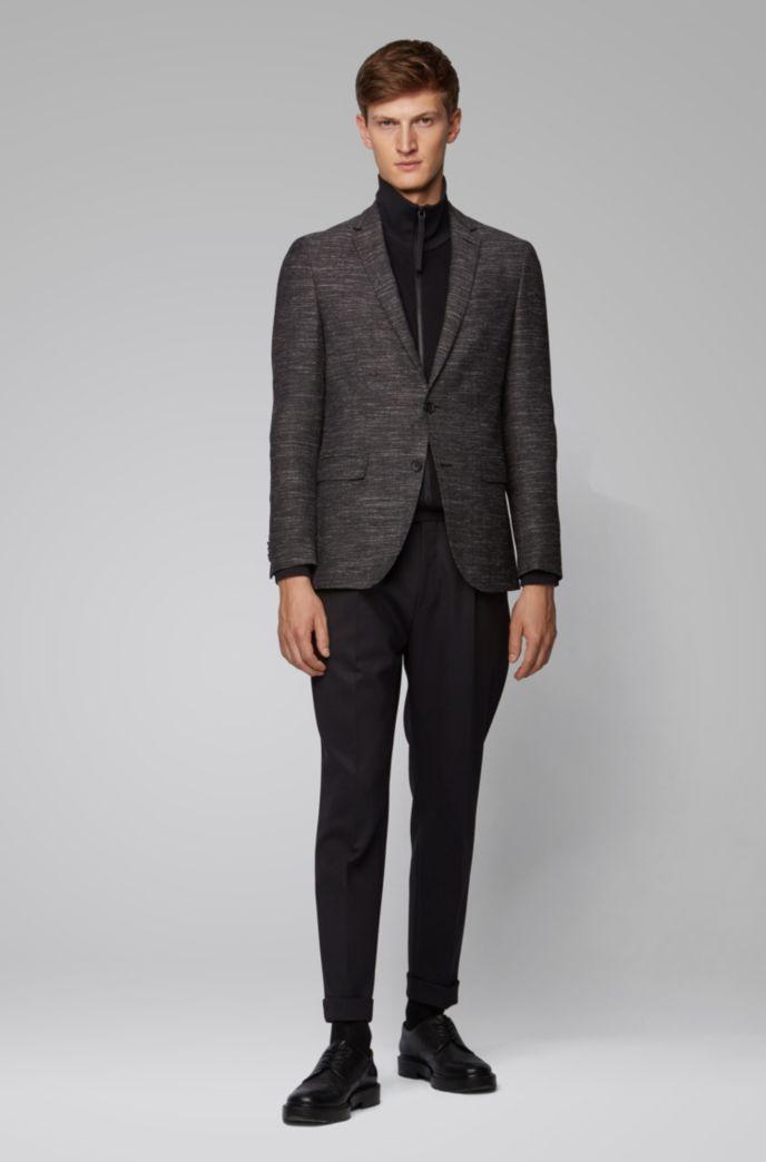 Slim-fit jacket in a virgin-wool blend