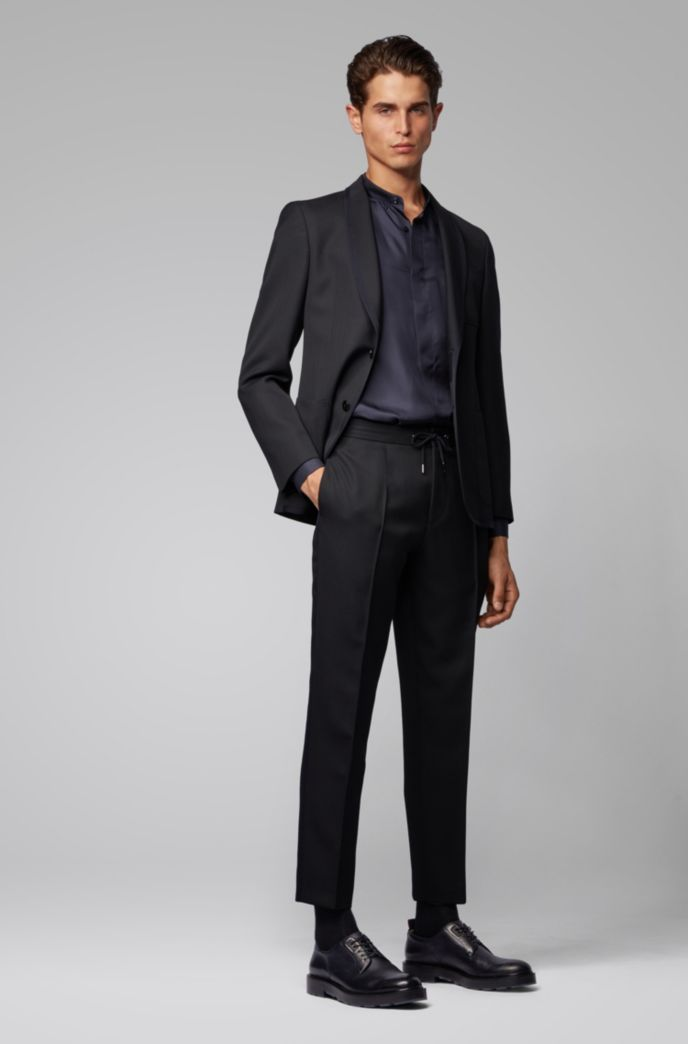 Relaxed-fit cropped pants with drawstring waist