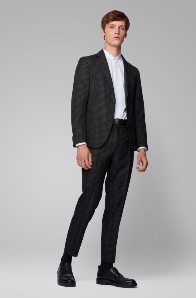 Slim-fit jacket in washable virgin wool
