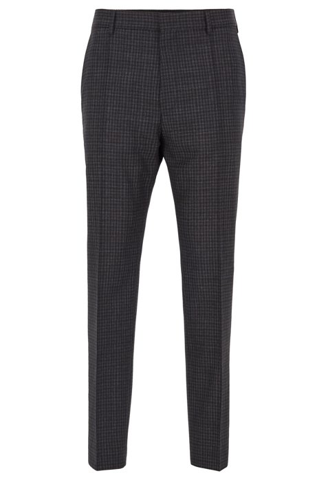 Relaxed-fit cropped pants in washable virgin wool, Open Grey