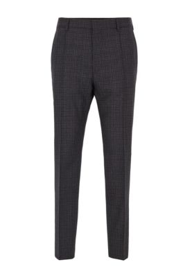 Relaxed-fit cropped pants in washable virgin wool, Light Grey