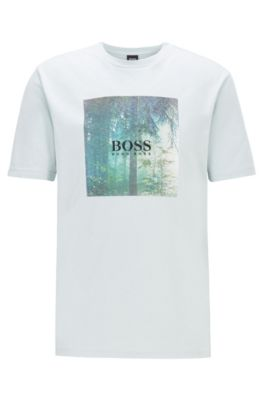 Cotton T-shirt with collection-themed graphic print, Silver