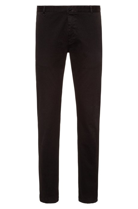 Extra-slim-fit pants in overdyed stretch cotton, Black