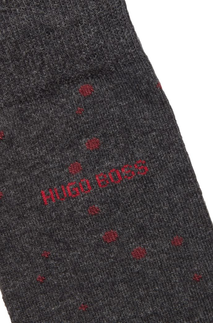 Dot-patterned socks in a combed cotton blend