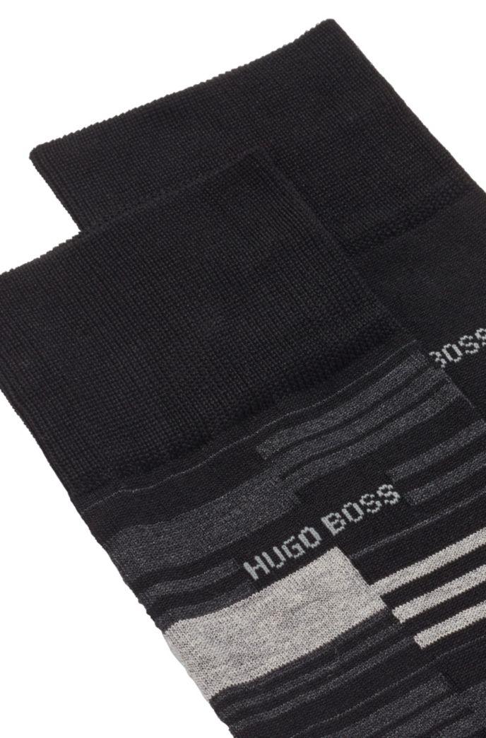 Two-pack of regular-length mercerized cotton-blend socks