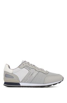 Running-inspired sneakers with bamboo-charcoal lining, Light Grey