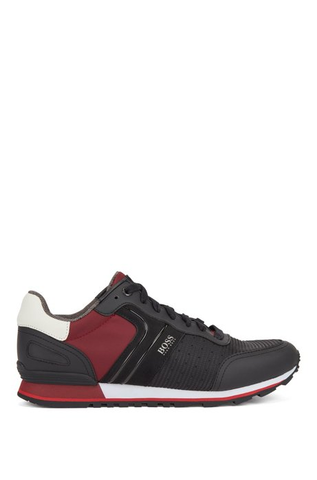 Running-inspired sneakers with bamboo-charcoal lining, Open Red