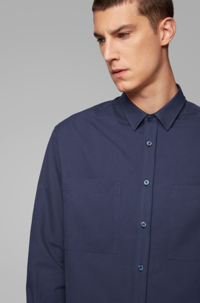 Relaxed-fit shirt in Italian cotton twill