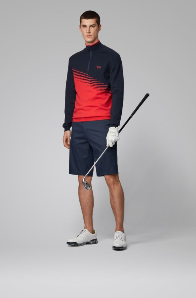 Regular-fit shorts in moisture-wicking stretch twill