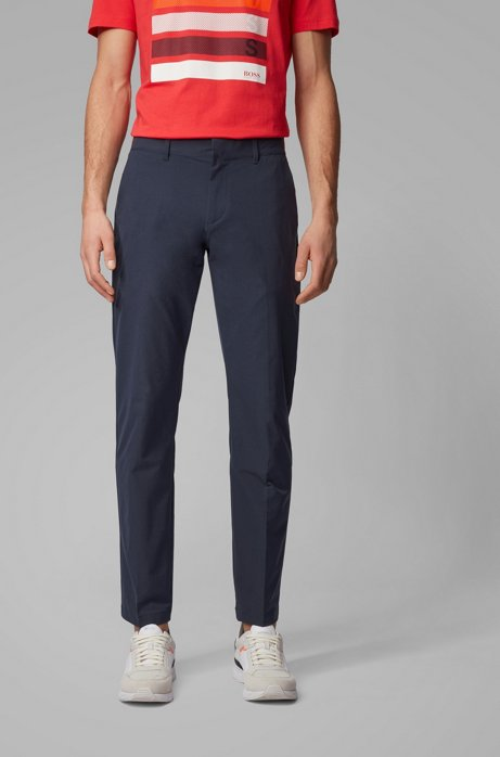 Extra-slim-fit pants in bi-stretch fabric, Dark Blue