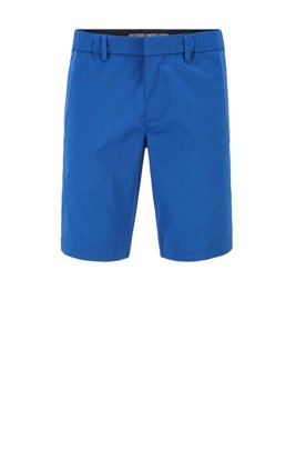 Slim-fit shorts in cotton-blend stretch dobby, Light Blue