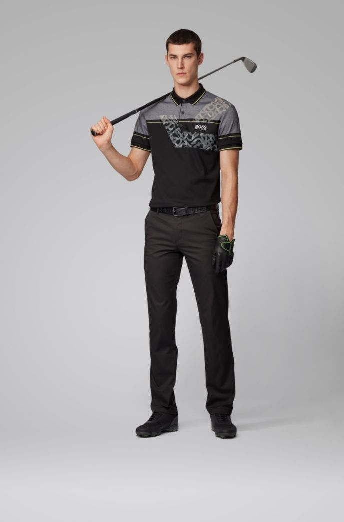 Regular-fit polo shirt with dynamic artwork