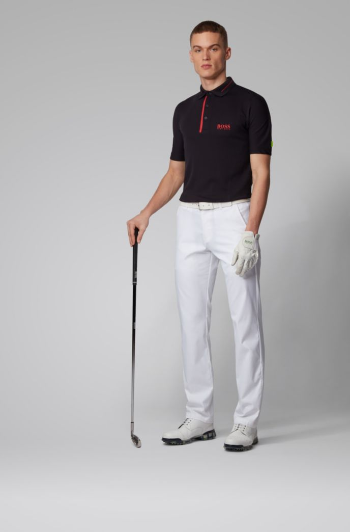 Slim-fit polo shirt in seamless stretch jersey