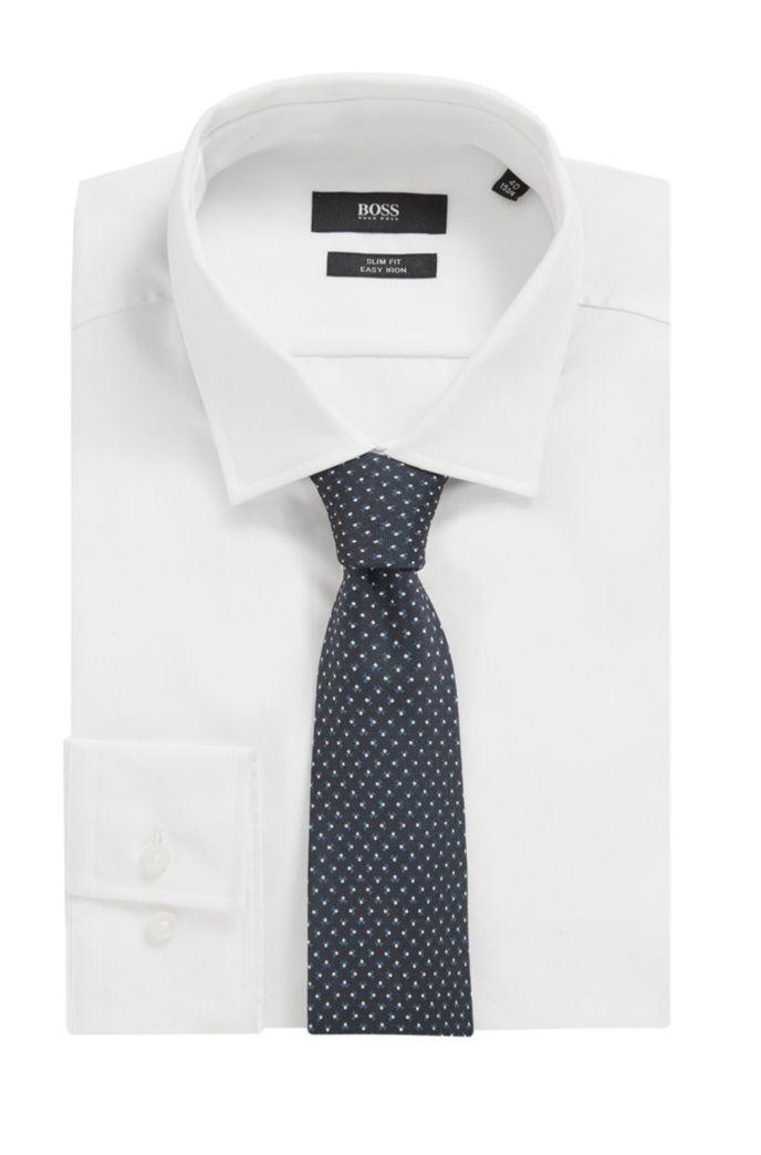Italian-made tie in patterned silk jacquard