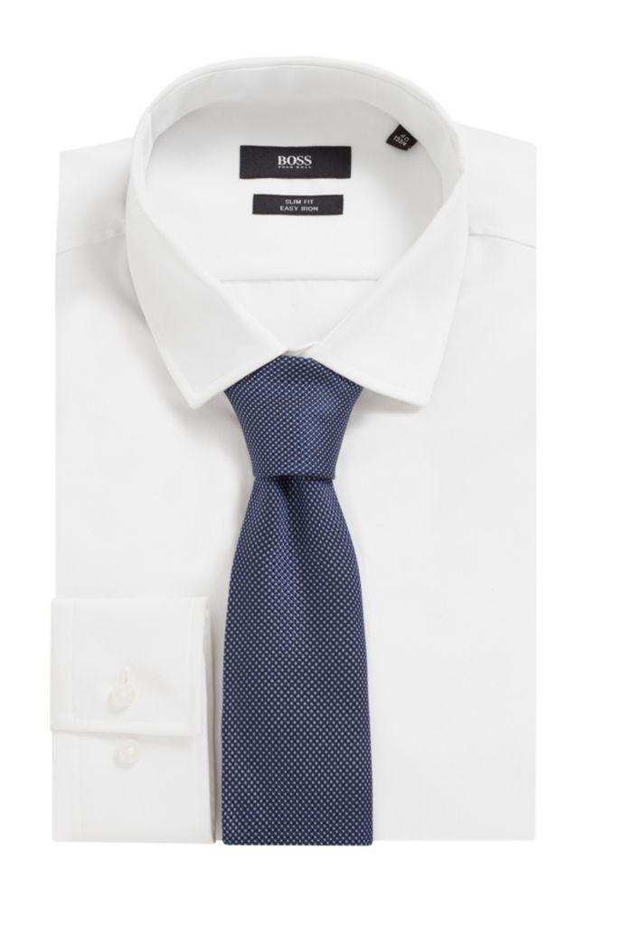 Tie in Italian silk with jacquard micro dots