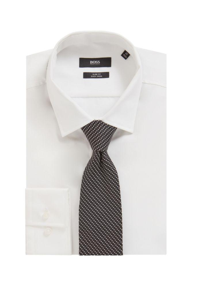 Italian-silk tie with micro-jacquard motif