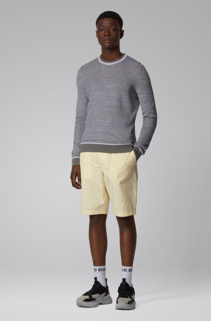 Regular-fit sweater with two-tone structure