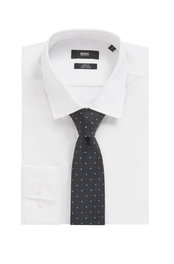 Italian-made tie with jacquard micro pattern