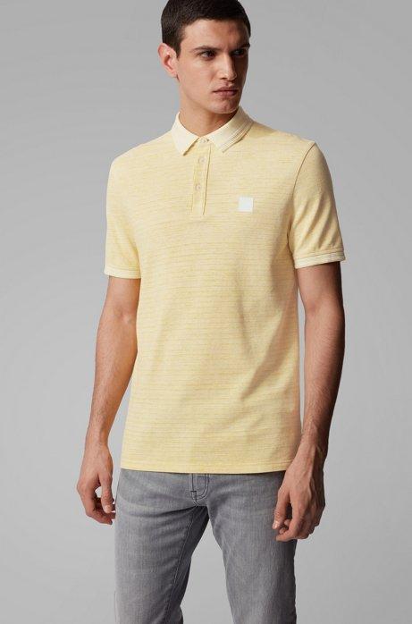 Polo shirt in double-spun two-tone cotton, Yellow