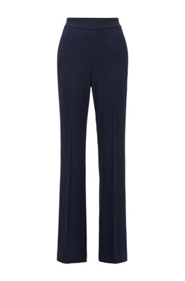 Relaxed-fit pants with high-rise waistband, Light Blue