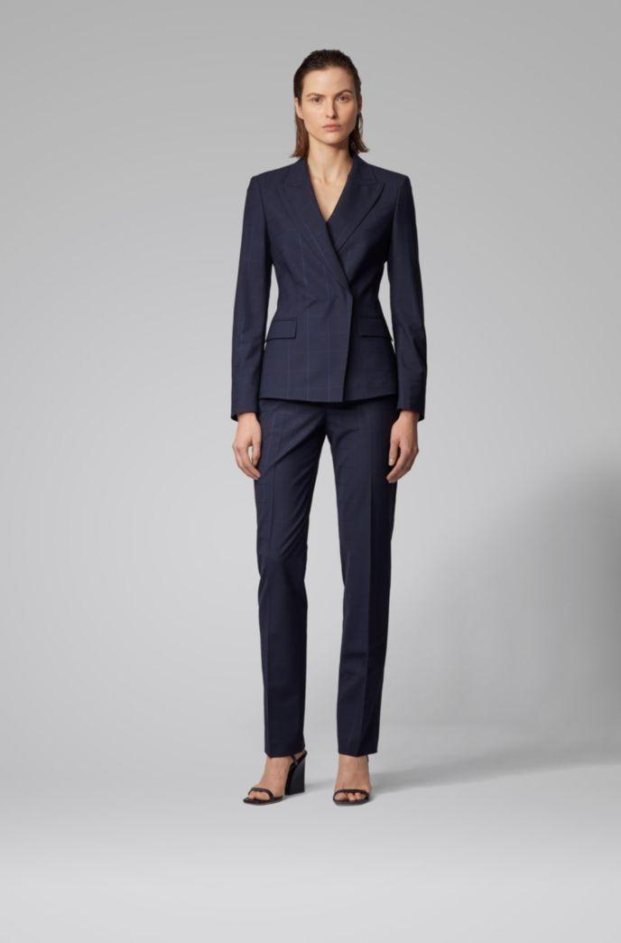 Regular-fit jacket in an oversize-check wool blend