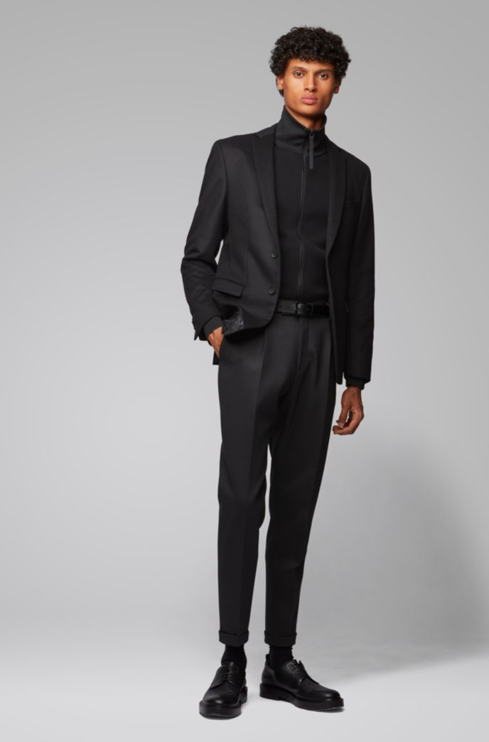Extra-slim-fit jacket in virgin wool and cashmere