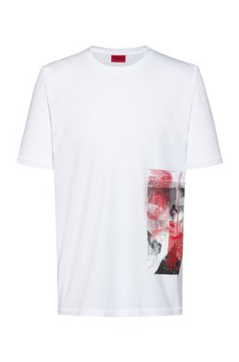 Relaxed-fit T-shirt in cotton with Berlin collection print, White