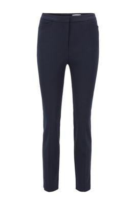 Slim-fit pants in a stretch-cotton blend, Light Blue
